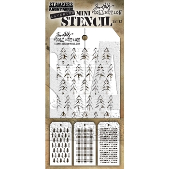 Tim Holtz MINI STENCIL SET 32 MST032