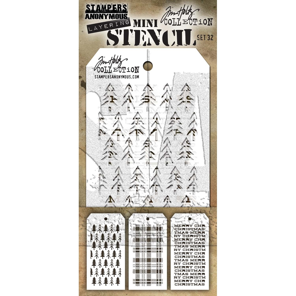Tim Holtz MINI STENCIL SET 32 MST032 zoom image