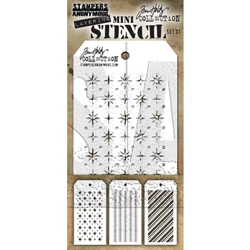 Tim Holtz MINI STENCIL SET 31 MST031
