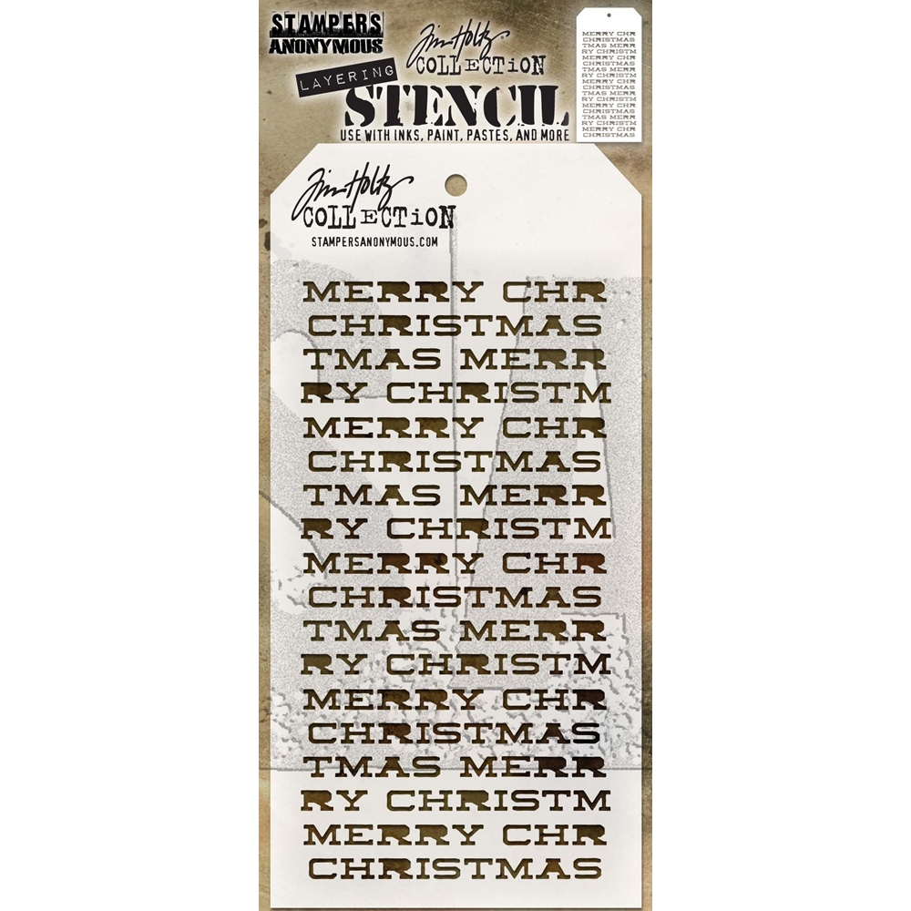 Tim Holtz Layering Stencil MERRY CHRISTMAS THS098 zoom image