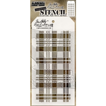 Tim Holtz Layering Stencil PLAID THS097