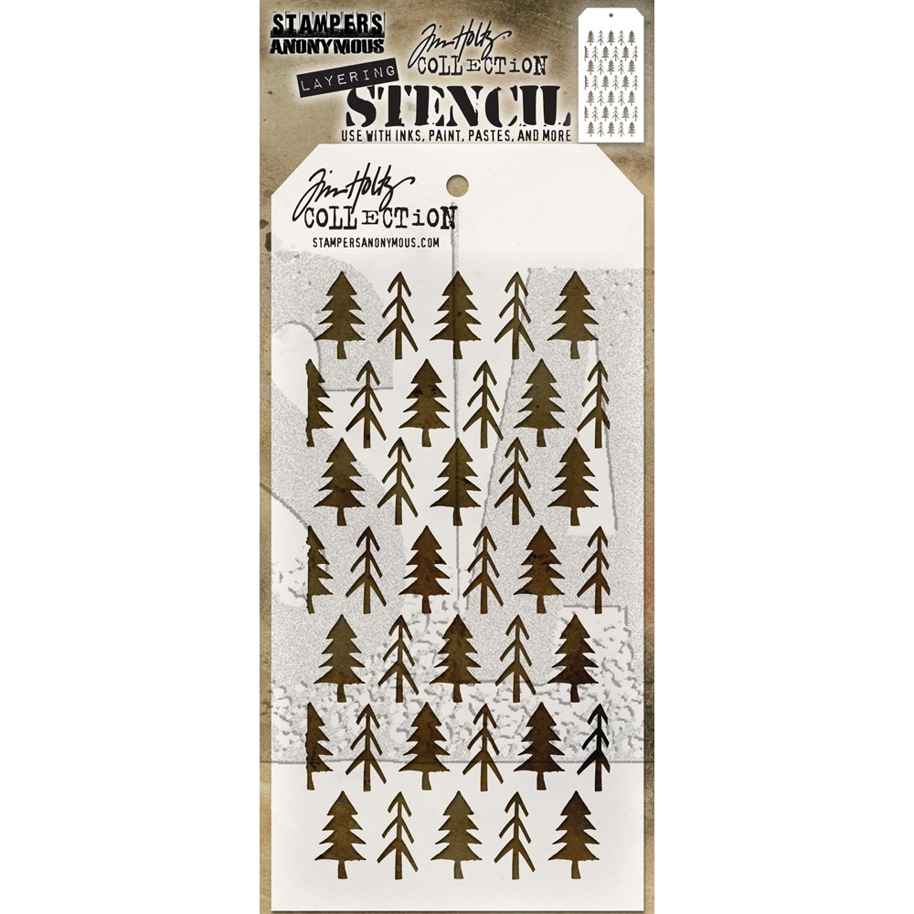 Tim Holtz Layering Stencil PINES THS096 zoom image