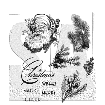 Tim Holtz Cling Rubber Stamps 2017 CHRISTMAS CLASSIC CMS322