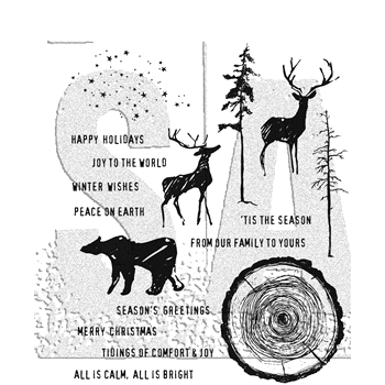 Tim Holtz Cling Rubber Stamps 2017 GREAT OUTDOORS CMS321