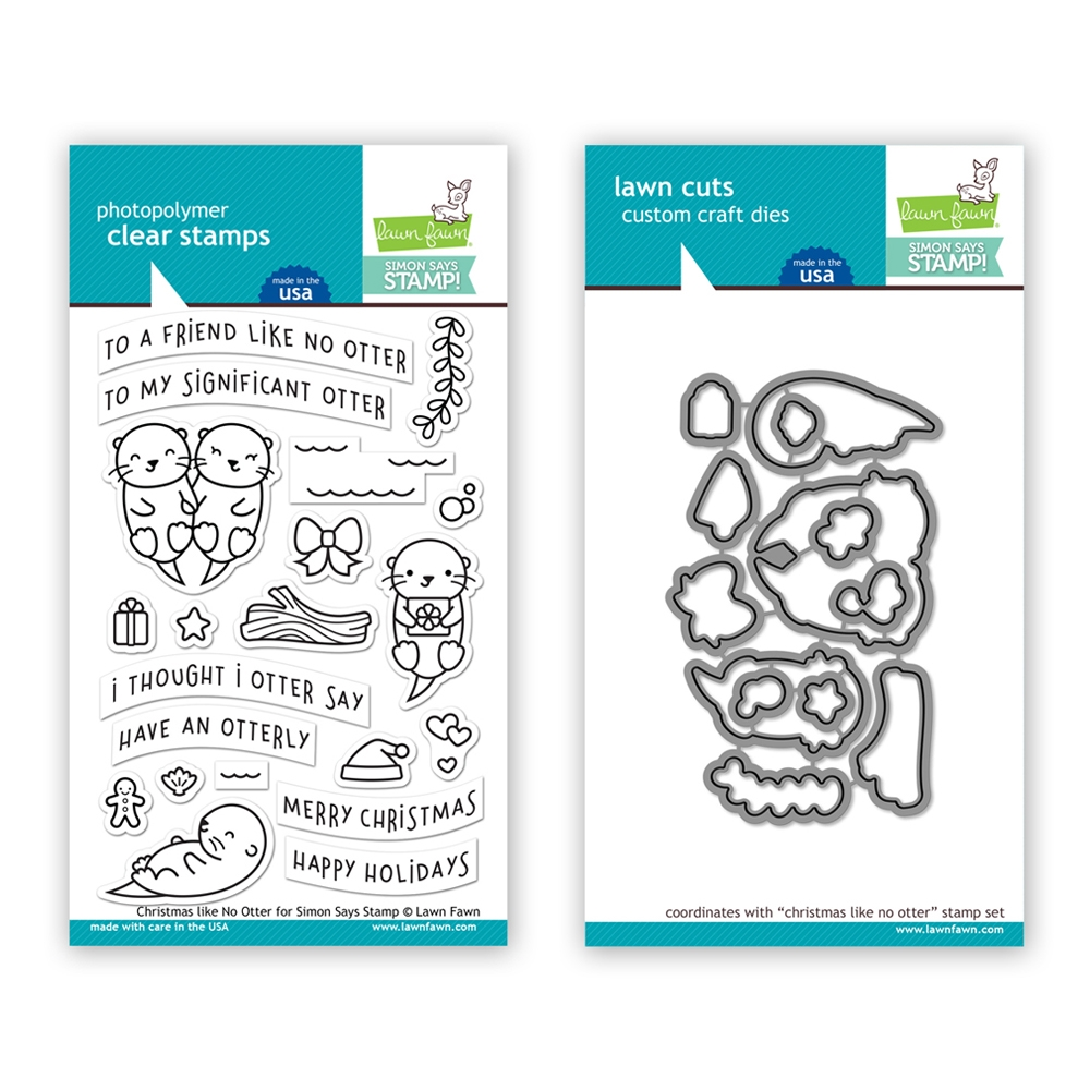 Lawn Fawn SET LF17SETCNR CHRISTMAS LIKE NO OTTER Clear Stamps and Dies STAMPtember Exclusive  zoom image
