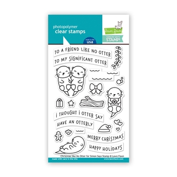 Lawn Fawn CHRISTMAS LIKE NO OTTER Clear Stamps LF1545 STAMPtember Exclusive