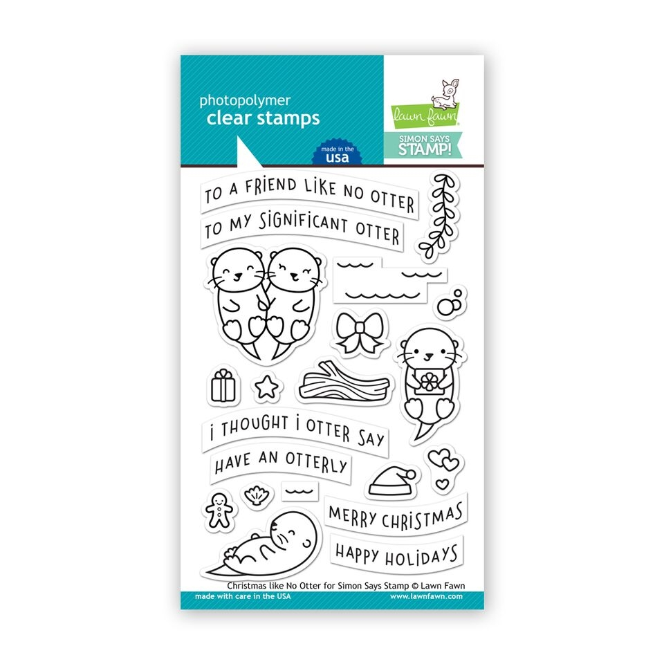 Lawn Fawn CHRISTMAS LIKE NO OTTER Clear Stamps LF1545 STAMPtember Exclusive zoom image