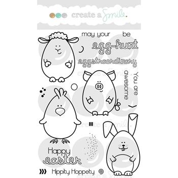 Create A Smile EGGSTRAORDINARY EGGHUNT Clear Stamps CLCS35