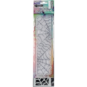 Dyan Reaveley SMALL COBWEB BORDER Dylusions Clear Stamp And Stencil DYZ54788