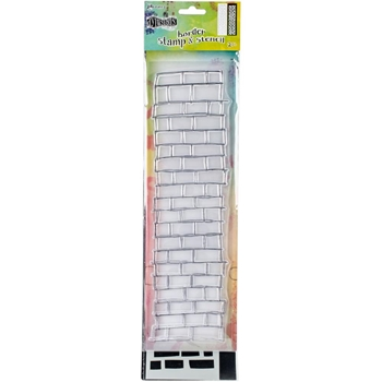 Dyan Reaveley LARGE BRICKWORK BORDER Dylusions Clear Stamp And Stencil DYZ54740
