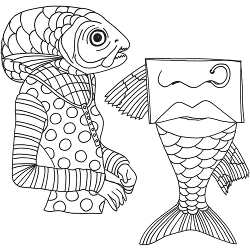 Dyan Reaveley FISH FACE Cling Stamp DYR59493 Preview Image