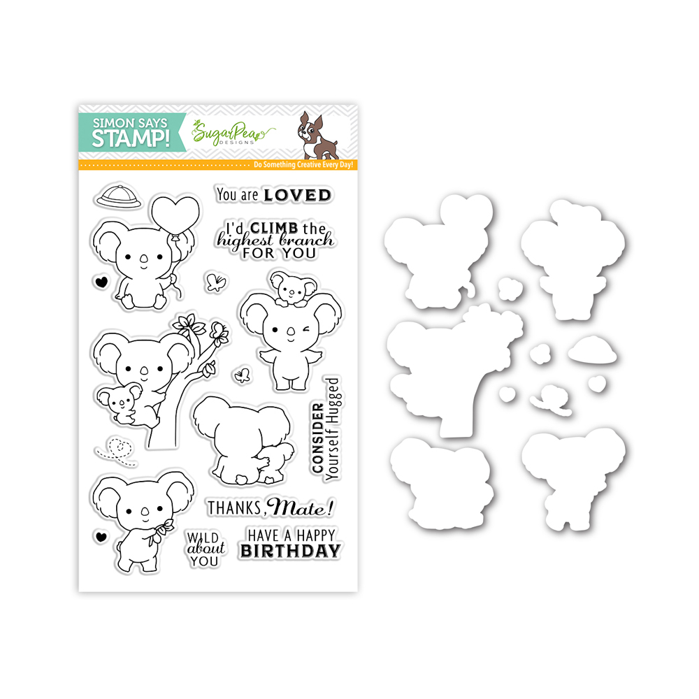 SugarPea Designs KOALATY TIME Stamps and Dies Set SR17SPSet Stamptember Exclusive