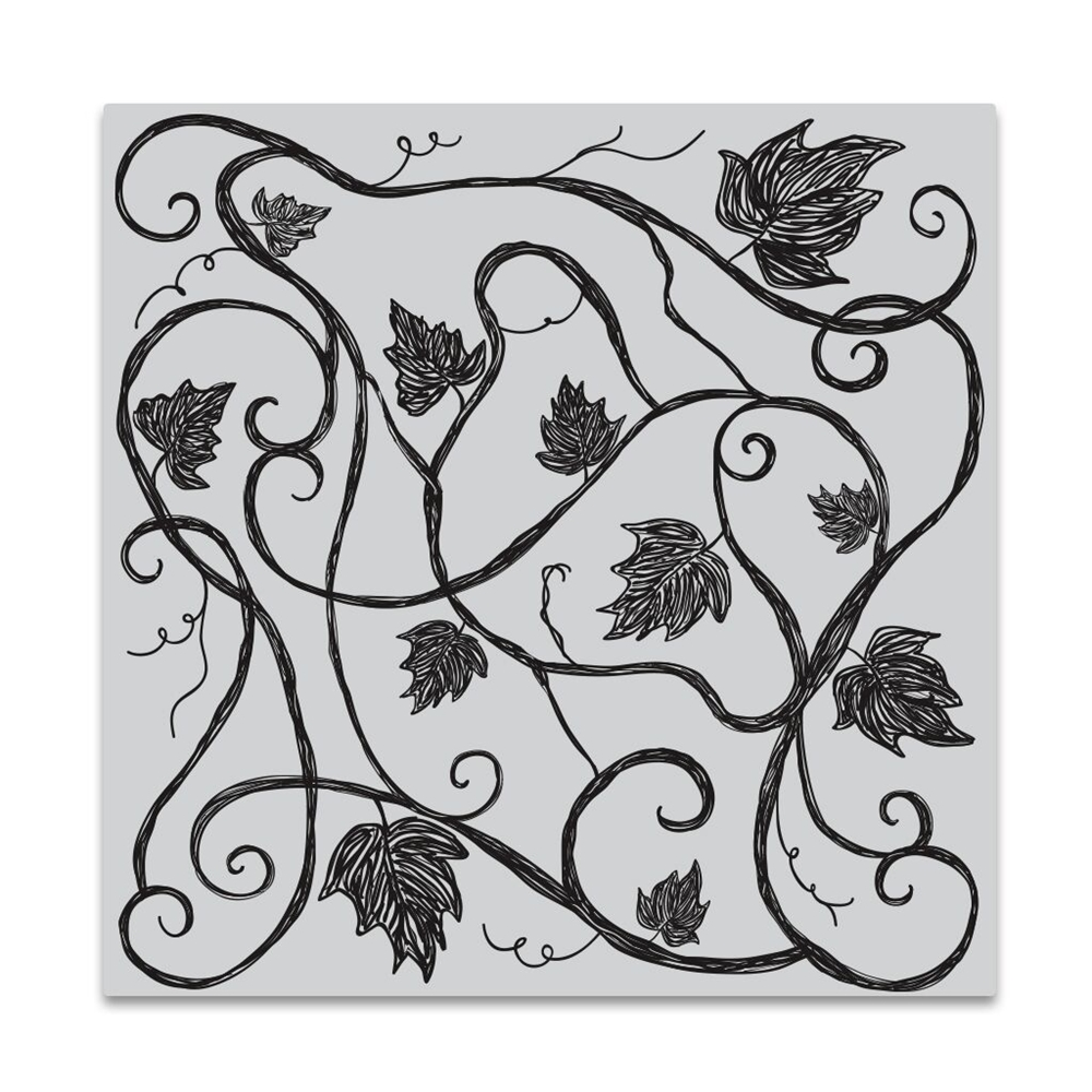 Hero Arts Cling Stamp VINE PATTERN Bold Prints CG721 zoom image