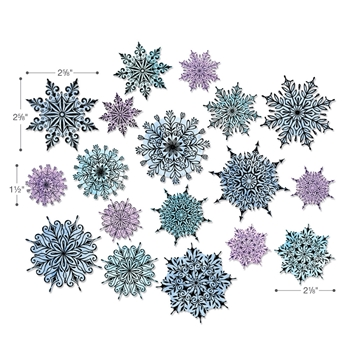 Tim Holtz Sizzix Framelits SWIRLY SNOWFLAKES Wafer Thin Die Set 662436