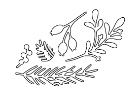 Flora and Fauna HOLIDAY FOLIAGE Die 30031