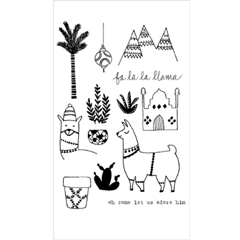 Flora and Fauna FA LA LA LLAMA Clear Stamp Set 20155