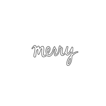 Flora and Fauna MERRY CURSIVE Die 30036