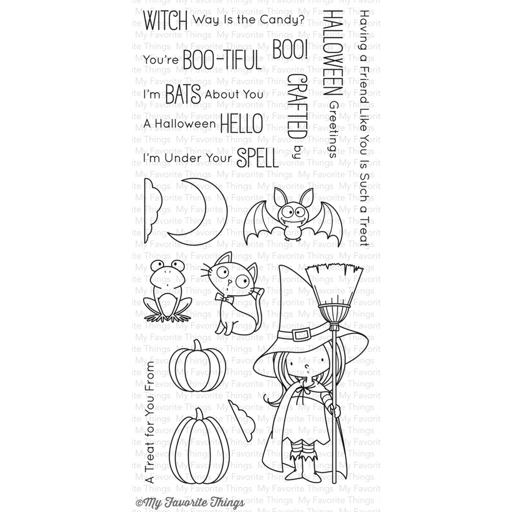 My Favorite Things WITCH WAY IS THE CANDY Clear Stamps BB50