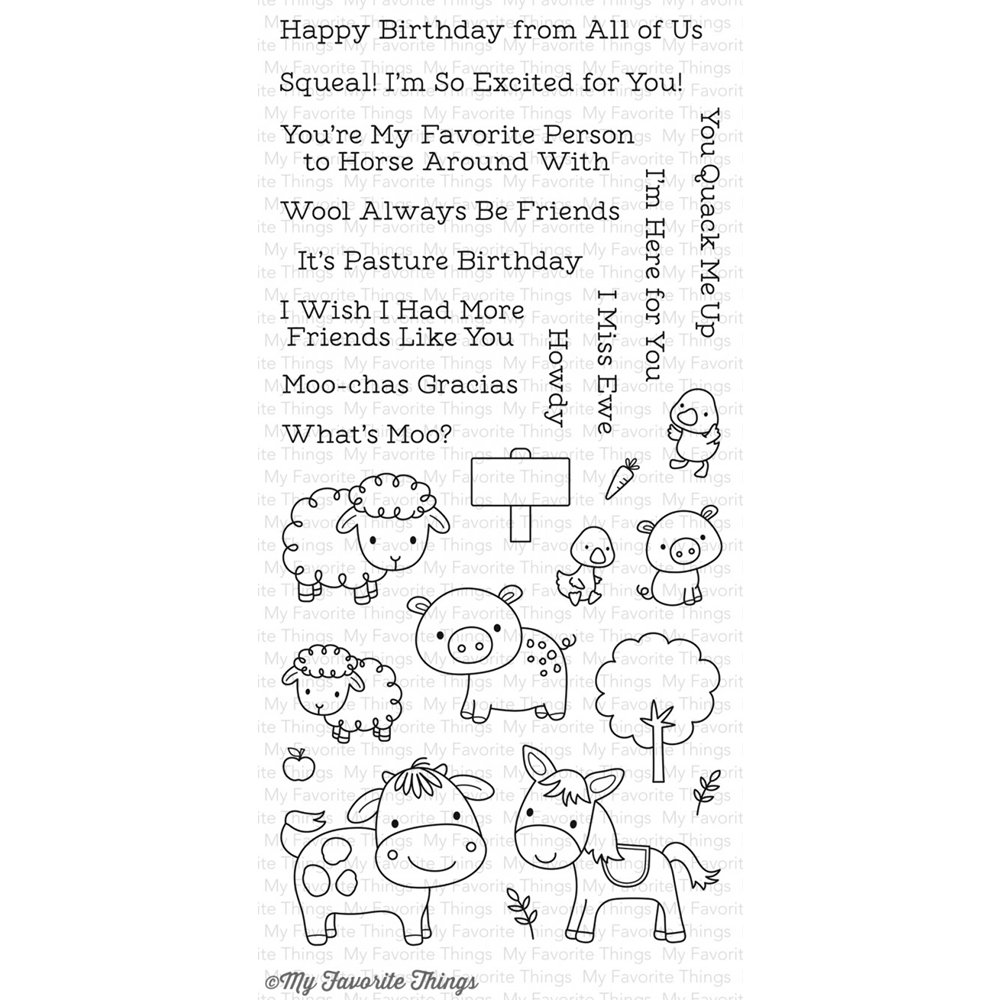 My Favorite Things ANIMAL FARM Clear Stamps CS232 zoom image