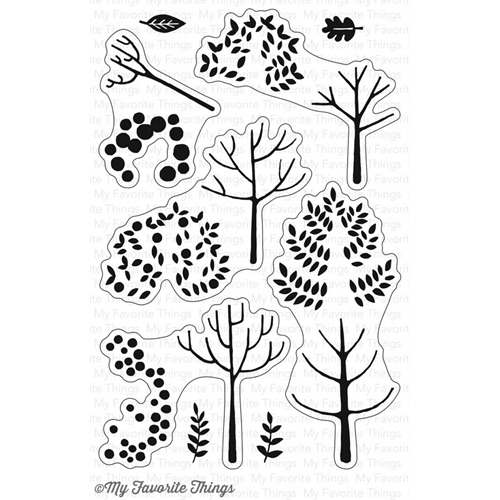 My Favorite Things MODERN TREES Clear Stamps CS226 Preview Image