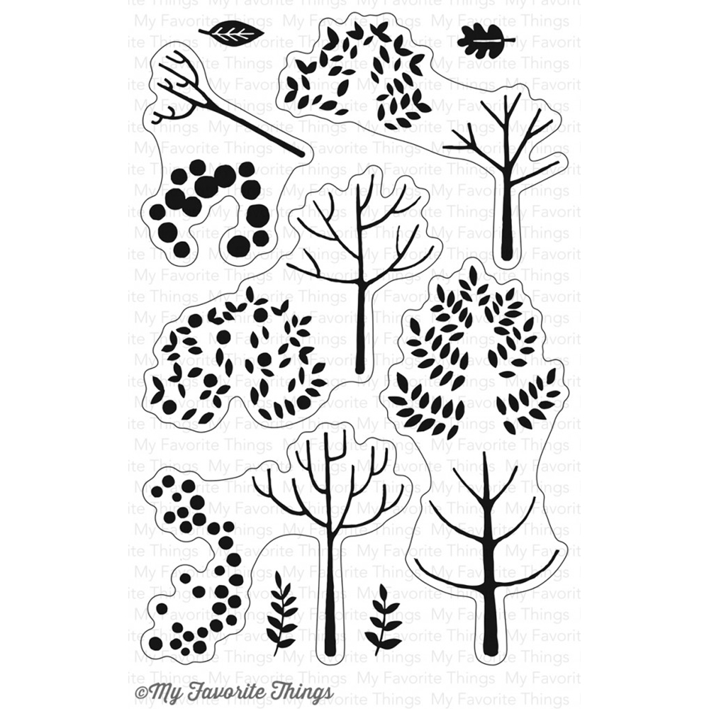 My Favorite Things MODERN TREES Clear Stamps CS226 zoom image