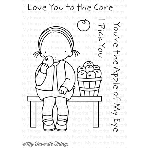 Pure Innocence LOVE YOU TO THE CORE Clear Stamps MFT PI267 Preview Image