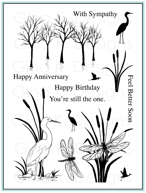 Gina K Designs THE WETLANDS 2 Clear Stamps 9858 zoom image