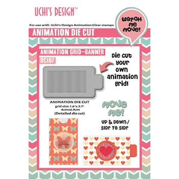 Uchi's Design 1.6 x 2.7 BANNER ANIMATION GRID Die DC107