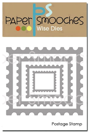 Paper Smooches POSTAGE STAMP Wise Dies SED407 Preview Image