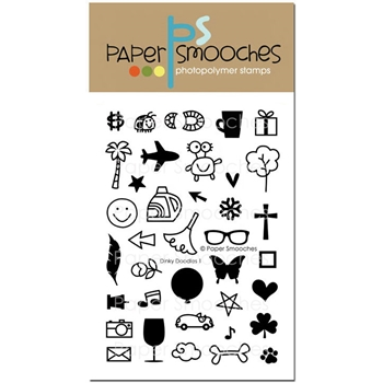 Paper Smooches DINKY DOODLES 1 Clear Stamps SES293*