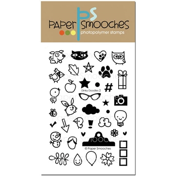 Paper Smooches DINKY DOODLES 2 Clear Stamps SES294*