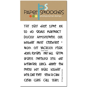 Paper Smooches DAILY DIARY Clear Stamps SES292