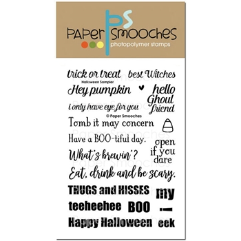 Paper Smooches HALLOWEEN SAMPLER Clear Stamps SES295*