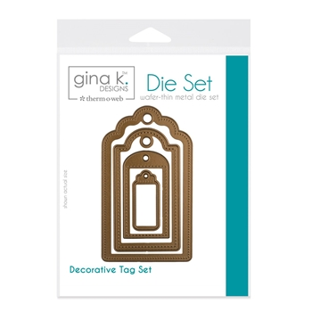 Therm O Web Gina K Designs DECORATIVE TAG SET Nested Dies 18050