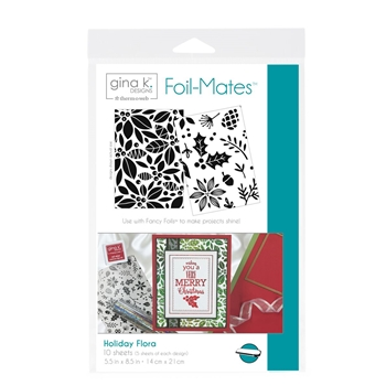 Therm O Web Gina K Designs HOLIDAY FLORA Foil-Mates Sheets 18054