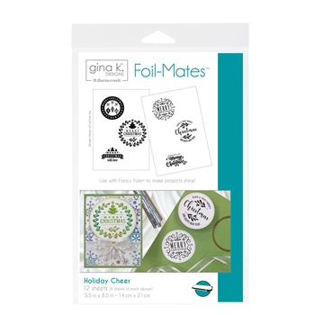 Therm O Web Gina K Designs HOLIDAY CHEER Foil-Mates Sheets 18057
