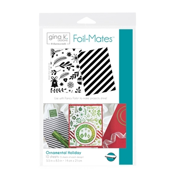 Therm O Web Gina K Designs ORNAMENTAL HOLIDAY Foil-Mates Sheets 18055