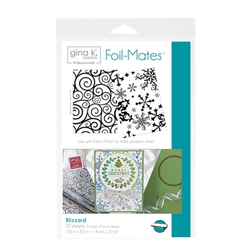 Therm O Web Gina K Designs BLIZZARD Foil-Mates Sheets 18056