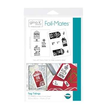 Therm O Web Gina K Designs TAG TIDINGS Foil-Mates Sheets 18060