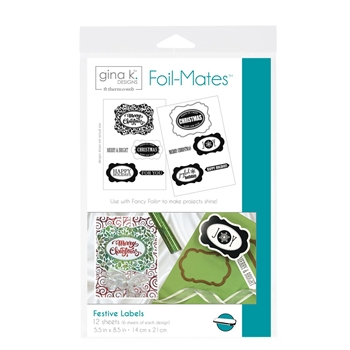 Therm O Web Gina K Designs FESTIVE LABELS Foil-Mates Sheets 18059