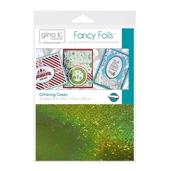 Therm O Web Gina K Designs GLITTERING GREEN Fancy Foils Deco Foil 18063