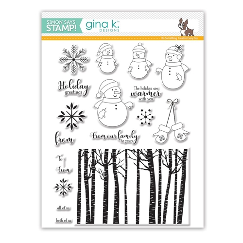 Gina K Designs WARMER WITH YOU Clear Stamps SSS101771 Stamptember Exclusive Preview Image