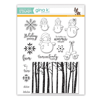 Gina K Designs WARMER WITH YOU Clear Stamps SSS101771 Stamptember Exclusive