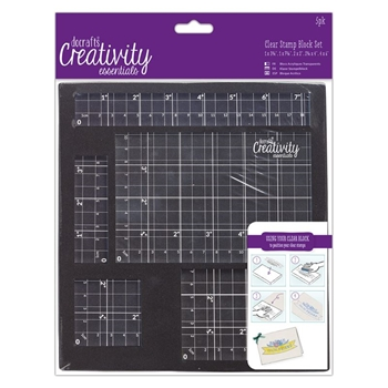 DoCrafts CLEAR STAMP BLOCK SET Creativity Essentials 903100
