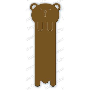 Impression Obsession Steel Die BEAR BOOKMARK DIE600-L
