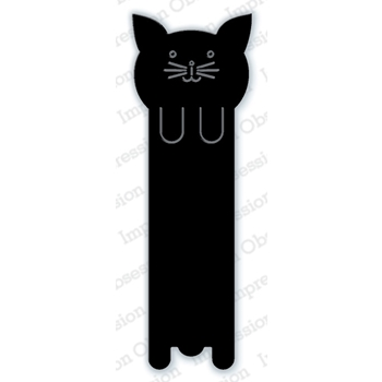 Impression Obsession Steel Die CAT BOOKMARK DIE602-L