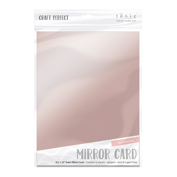 Tonic BURNISHED ROSE Mirror Card Satin Effect Cardstock 9488E