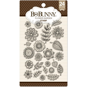 BoBunny FLOWER GARDEN Clear Stamps 12105287