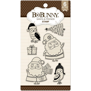 BoBunny SANTA & FRIENDS Clear Stamps 12105297