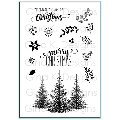 gina k designs christmas greenery clear stamps 9513 preview image shadow - Christmas Greenery